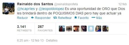 Twitter de Reinaldo Dos Santos